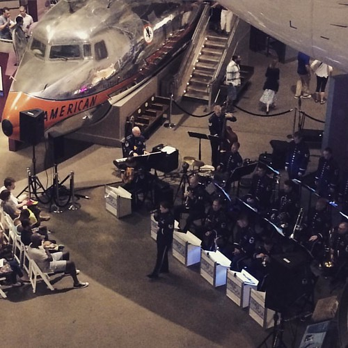US Air Force band at the Air and Space Museum #airandspace40 #airandspacemuseum
