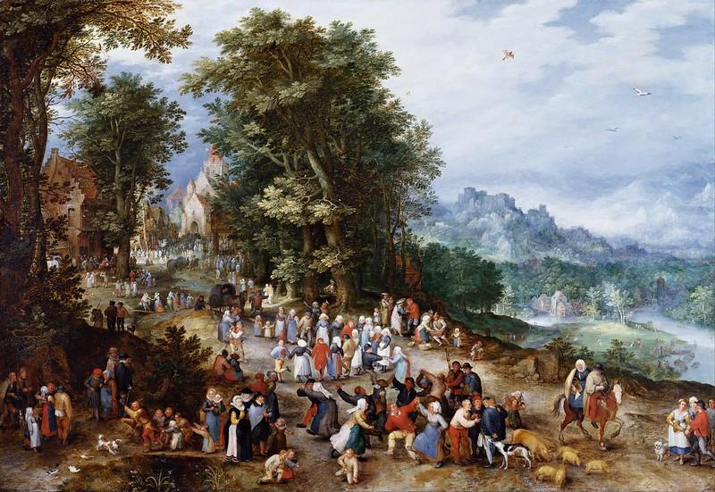 Jan Brueghel the Elder - Flemish Fair (1600)