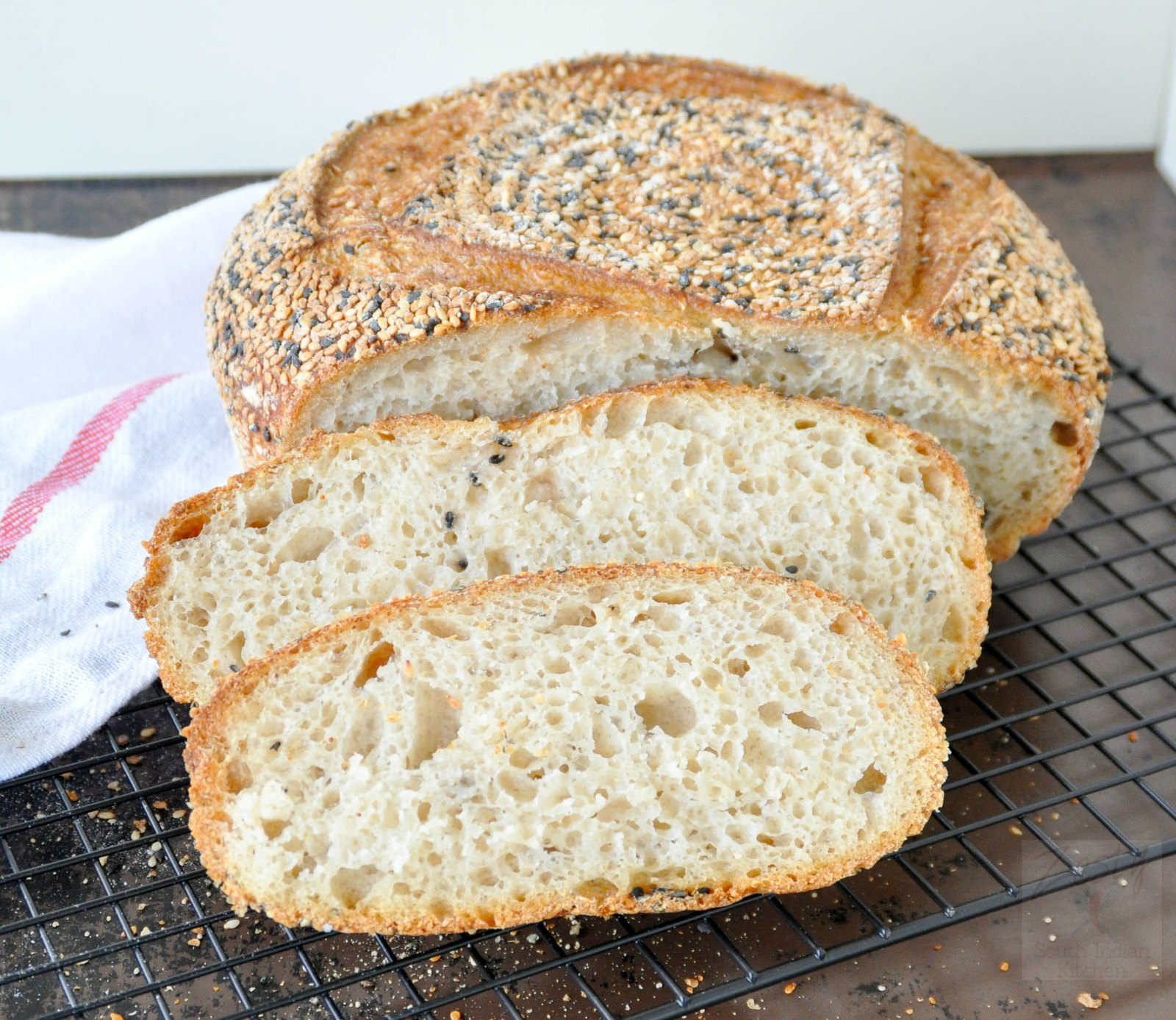 Seeded semolina bread - Zesty South Indian Kitchen