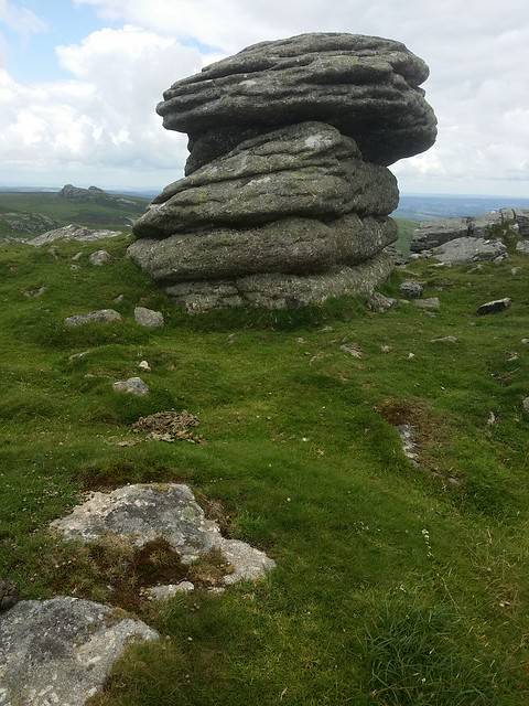 Outcrop on Rippon Tor, Dartmoor