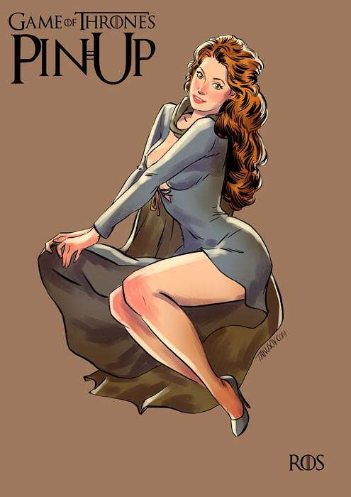 Risqué Game of Thrones pin-up girls by Andrew Tarusov - Ros