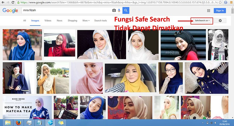 Fungsi Safe Search Salam Browser