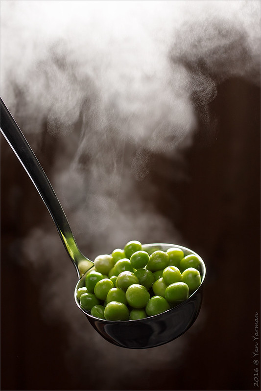 The boiled peas