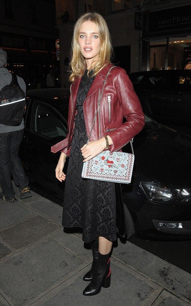 Mock red wine biker jacket