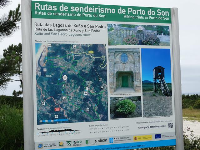Panel Informativo Ruta das Lagoas de Xuño e San Pedro