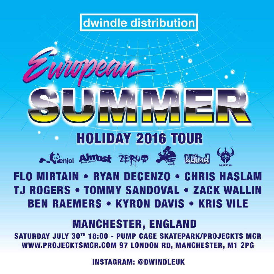 Dwindle European Summer Holiday Manchester