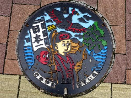 Okayama city Okayama pref, manhole cover 5 (岡山県岡山市のマンホール5)