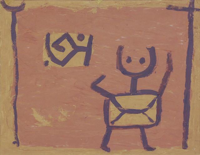 Ohne Titel (Kind und Drache), Paul Klee, um 1940