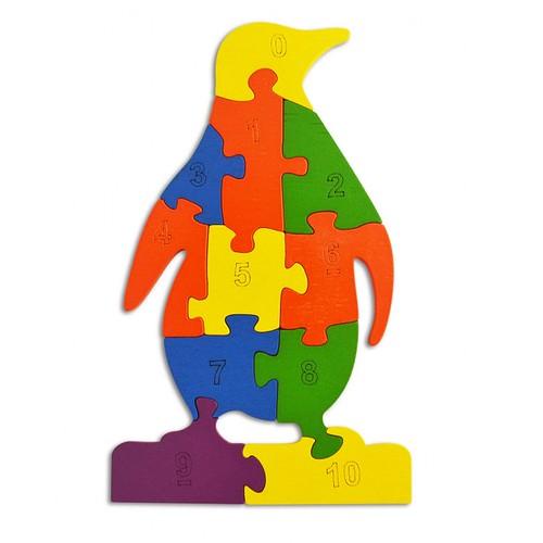 Lắp ghép con chim cánh cụt - đồ chơi gỗ