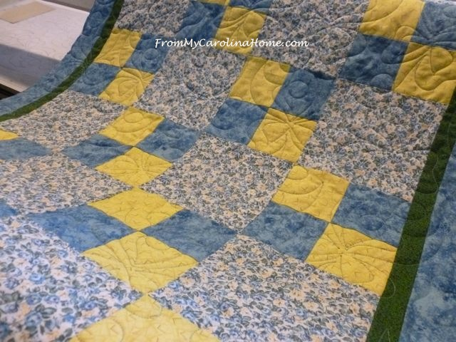 Back to the Blue and Yellow Charity Quilt | From My Carolina Home : blue and yellow quilt - Adamdwight.com