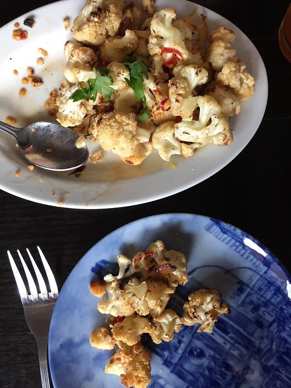 Crispy spicy cauliflower