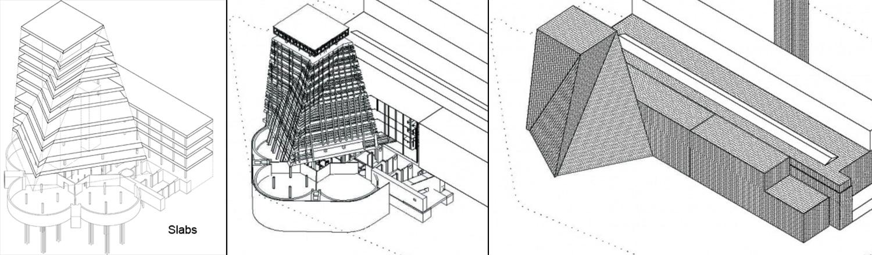 M i l i m e t d e s i g n for Switch house tate modern architecture