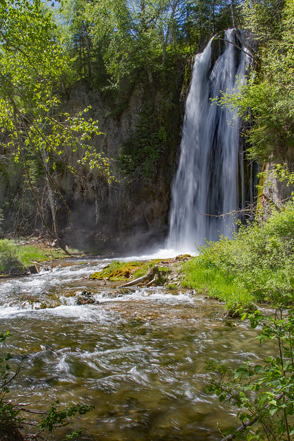 Side of Spearfish Falls