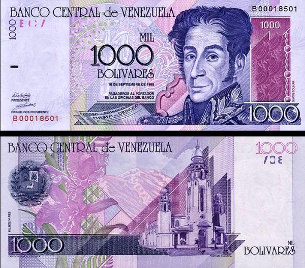1000 Bolivares Venezuela 1998, P79