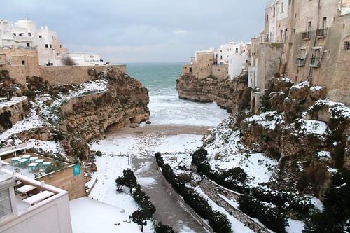 Neve Polignano a Mare foto 31 dicembre 2014 mattina