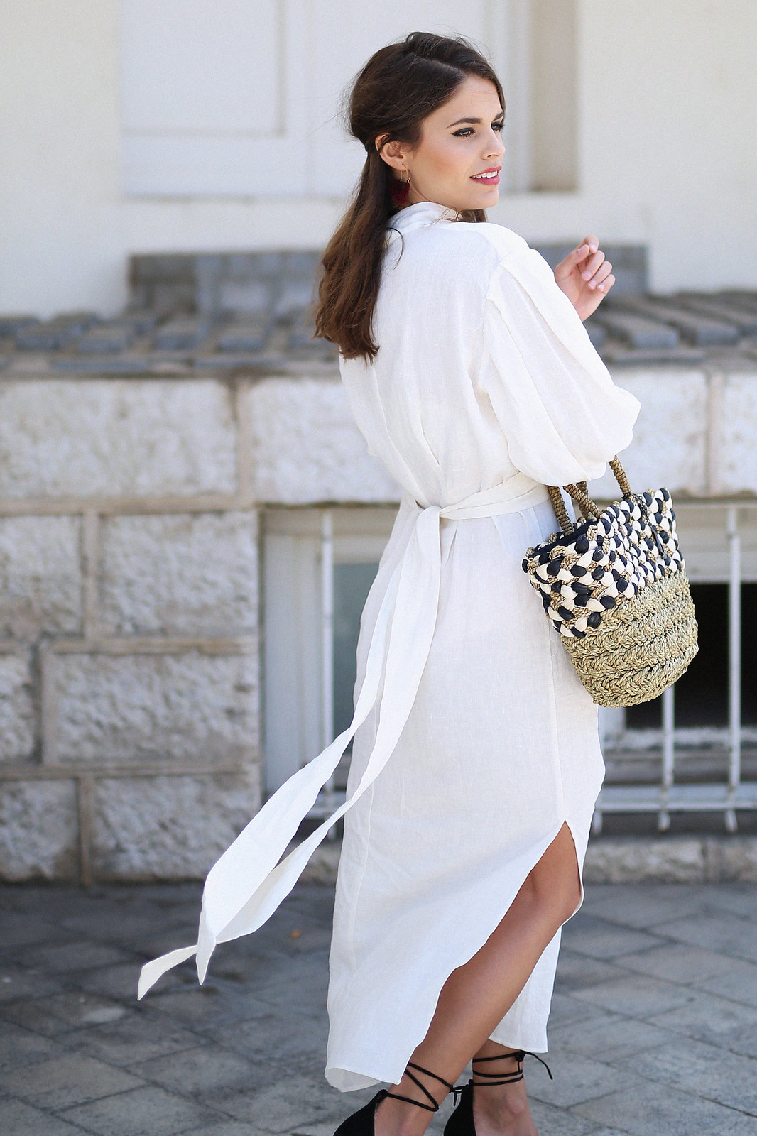 jessie chanes seams for a desire zara vestido lino capazo rafia-14