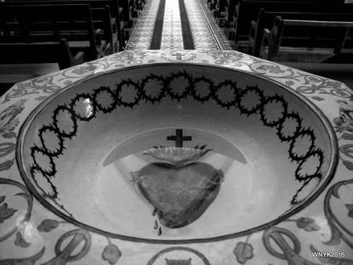 Sacred Heart Submerged in Holy Water