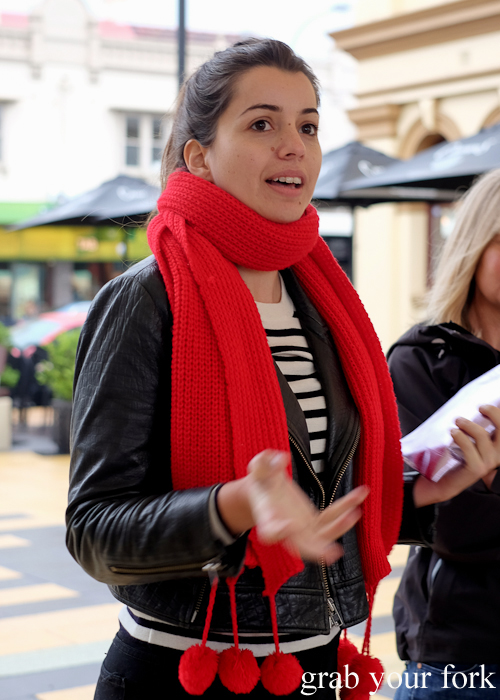 Eleni Christou, author of the Community Kouzina project, leading our Marrickville Food Tour