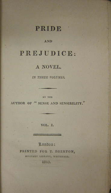 pride and prejudice by jane austen zsr library title page from zsr s first edition of pride and prejudice