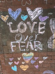 Chalking Our Pride & Sorrow & Strength & Love (Orlando): Love Over Fear