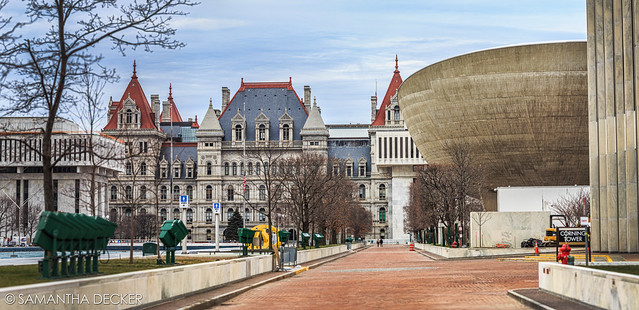 New York State Capitol and the Egg