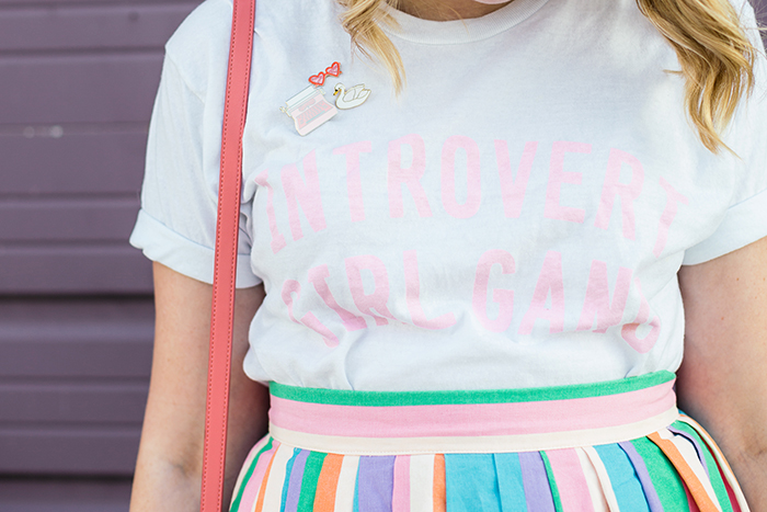 Introvert Girl Gang tee from Luella