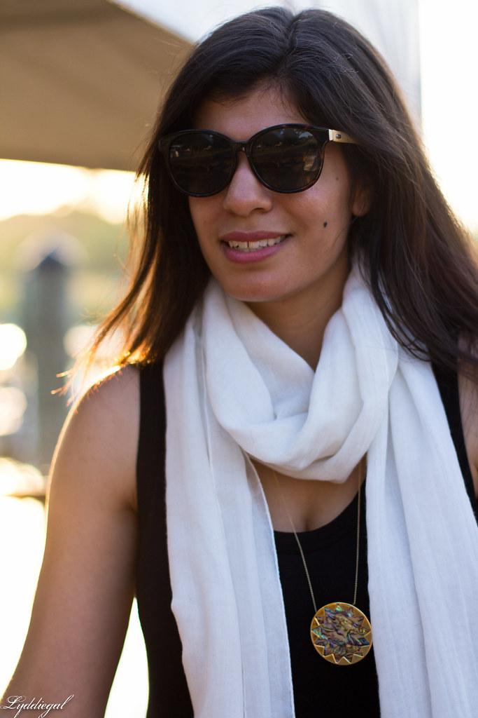 black maxi dress, white scarf, brown leather tote-8.jpg