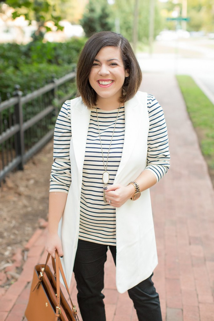 Head to Toe Chic-white blazer vest-@akeeleywhite