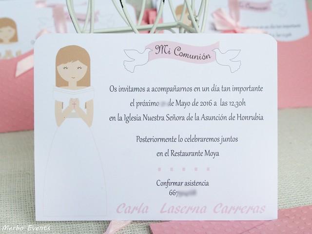 Invitaciones comunion niña modelo venecia Merbo Events