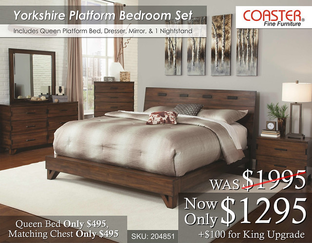 Yorkshire Platform Bedroom Set