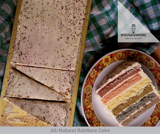 All-Natural Rainbow Cake by Dough Empire, Singapore
