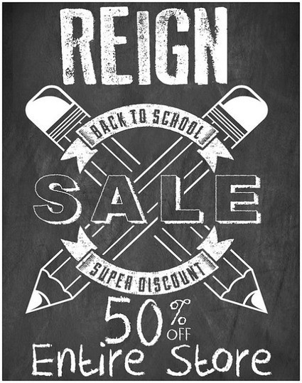 Reign Back to School Sale