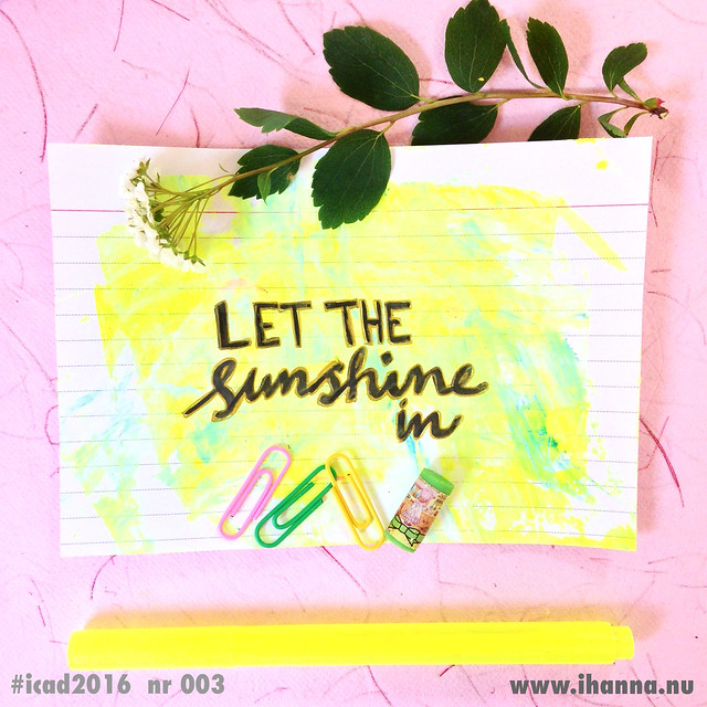 Index Card Let the Sunshine in by @ihanna #icad