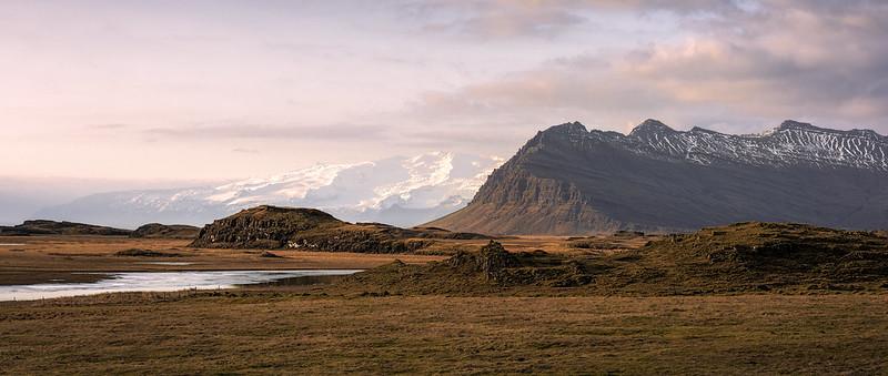 low winter sun   vagnsstaðir, iceland