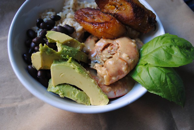 Brazilian Bowls with Shrimp & Plantains