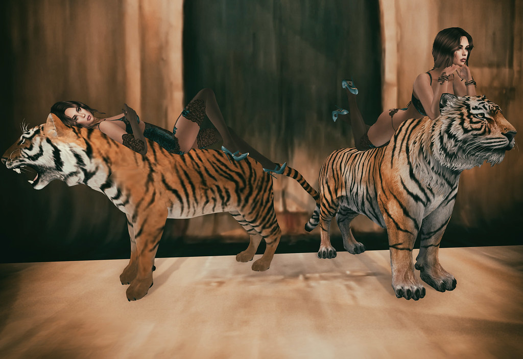 Tiger tamer- featuring Something New -props n poses, Carries Lingerie, EMO-tions