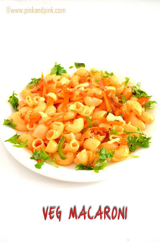 Veg macaroni recipe in indian style