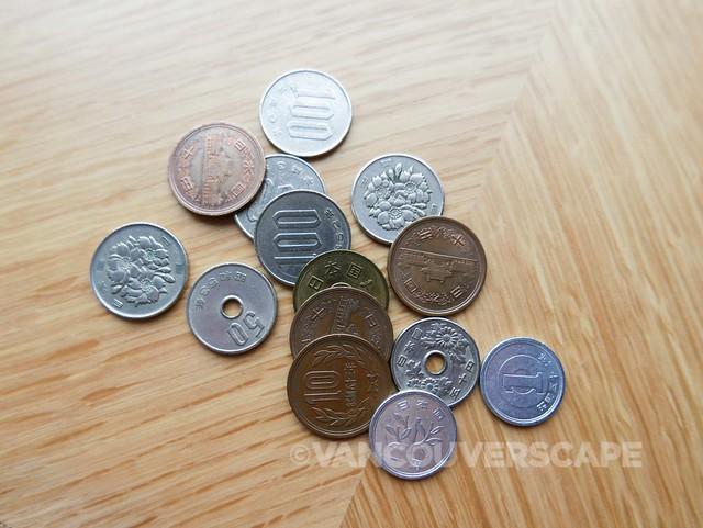 Yen coins