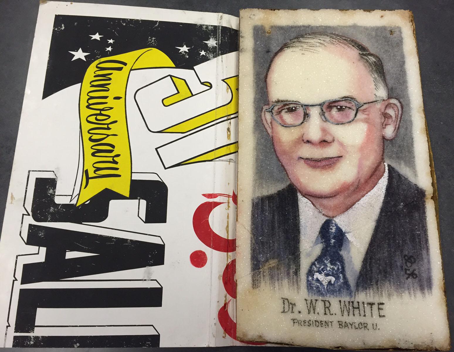 Sugar portrait of Baylor President W.R. White, 1956