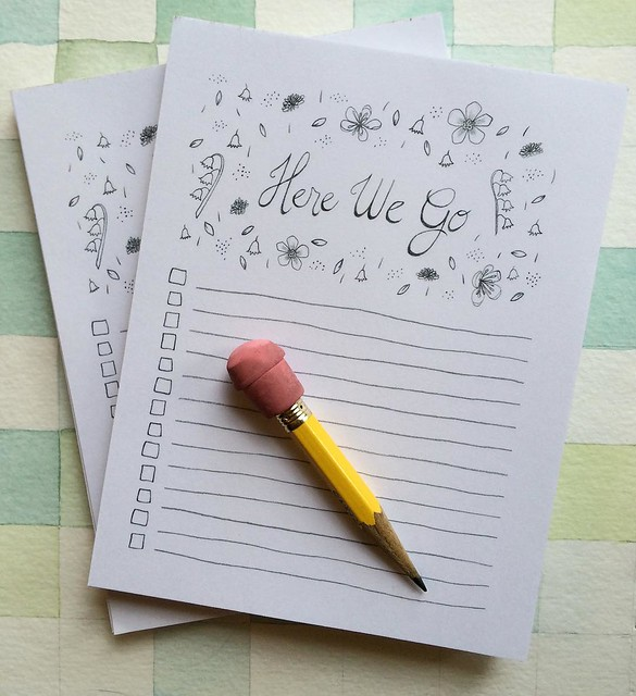 "Lookeeee what just got added to my shop (link in my profile) Here We Go, 50 sheet #notepads, 4.25x5.5"", the stationery version is there as well. #robayre100days Also, don't forget to enter the giveaway and use the 10% off coupon mentioned in a post from t"