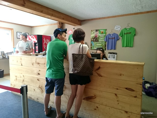 Treetop Trekking Stouffville check-in desk