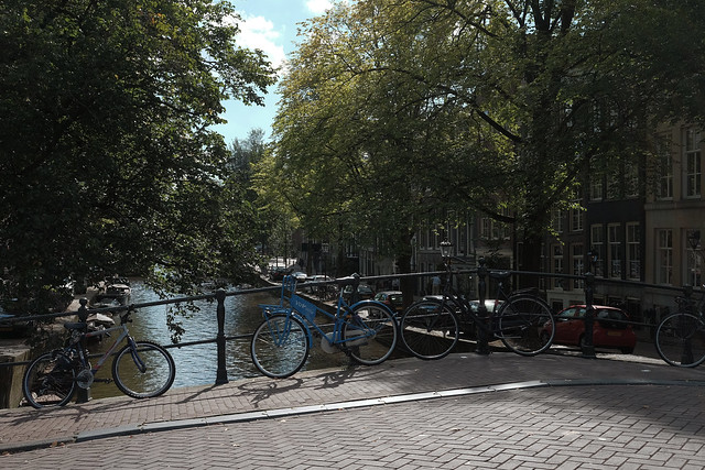Bike at canal in Amsterdam 40
