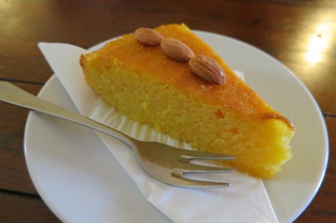 Orange, almond & polenta cake