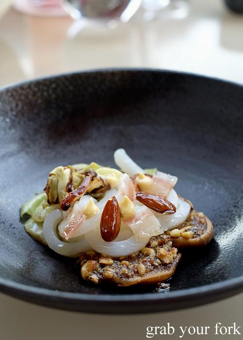 Tasmanian line caught squid at Bennelong Restaurant Sydney