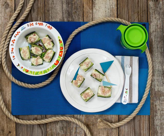 Barchette di zucchine con robiola con EasyPappa Philips Avent