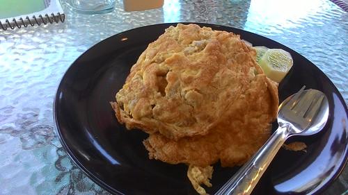 Thaifood  Kai jeow moo sap