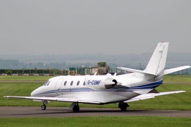 Cessna 560  Citation Excel G-CGMF 27MAY16 - Gerallt Marsh