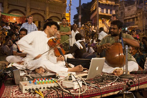 Music Performance at - Varanasi Ghat, Uttarpradesh, India