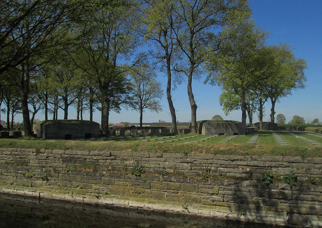 Langemark War Cemetery, Surround, Blockhouses and Graves