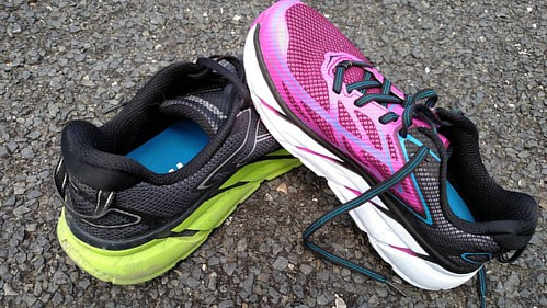 Tahoe Triple training week 10: 10-18-8 for the weekend, and some much-needed new shoes.